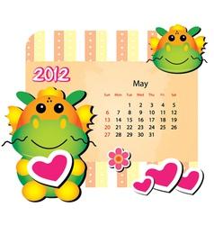 May animal calendar vector