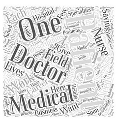 Medical Career Descriptions Word Cloud Concept vector