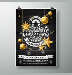 Merry christmas party design with holiday vector