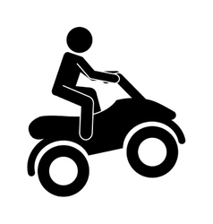 motorcycle extreme isolated icon design vector image