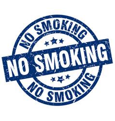 No smoking blue round grunge stamp vector