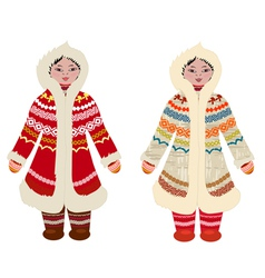northern peoples vector image