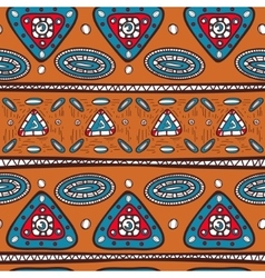 Pattern with ethnic motifs vector image