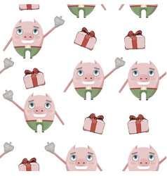 pig pattern beautifaul vector image
