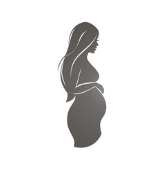 Pregnant woman symbol stylized silhouette vector