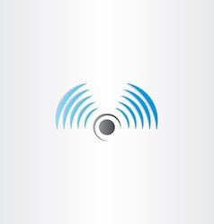radio waves logo icon vector image vector image