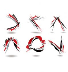 ribbon logo twist vector image