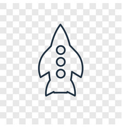 rocket toy concept linear icon isolated on vector image