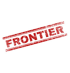 Scratched textured frontier stamp seal vector