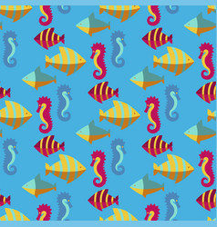 seamless patterns with nautical elements wave vector image