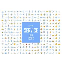 Service color icons big set car technical vector