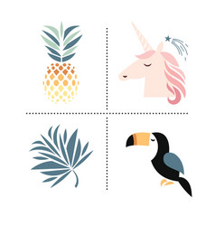 set of trendy design elements vector image