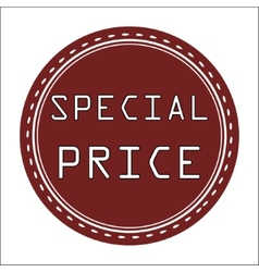 Special Price Icon Badge Label or Sticke vector image