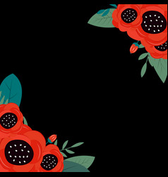 spring and summer flowers bright background can vector image