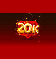 Thank you followers peoples 20k online social vector