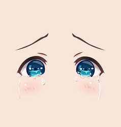 The real eyes of anime manga girls vector