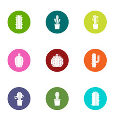 thorn icons set flat style vector image