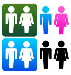 unique restroom or general male female signs vector image
