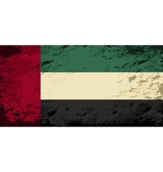 United arab emirates flag grunge background vector