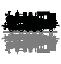 Vintage steam locomotive vector