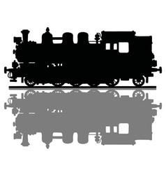 Vintage steam locomotive vector