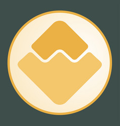 Waves icon for internet money vector