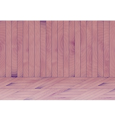 Wooden room with purple - blue wood vector