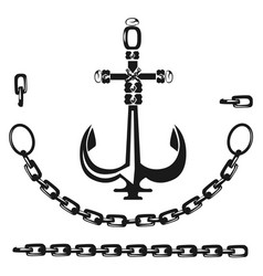 anchor with chain vector image vector image