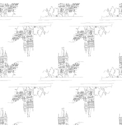 charles bridge seamless vector image