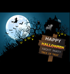 happy halloween night party holiday festival vector image