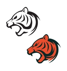 Tiger head logo template Design element for label vector image vector image