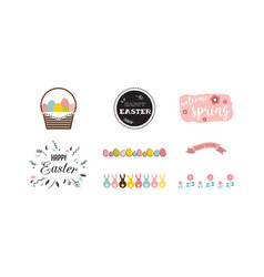 traditional icon set for easter holiday vector image