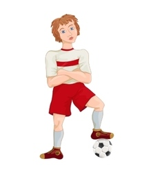 Young soccer player cartoon character vector image