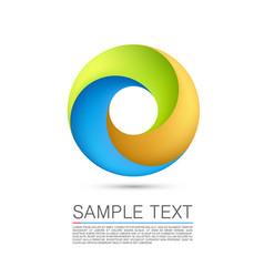 abstract infinite loop vector image vector image