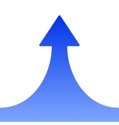 Blue Rising Arrow on White Background vector image