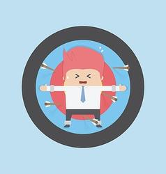 Businessman on archery targets Risk concept vector image vector image
