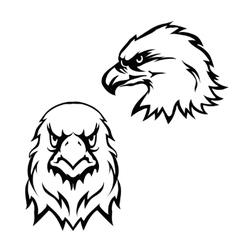 Eagles head logo emblem template set mascot symbol vector image