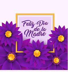 feliz dia de la madre happy mother s day in vector image