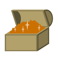 Flat icon on stylish background treasure chest vector