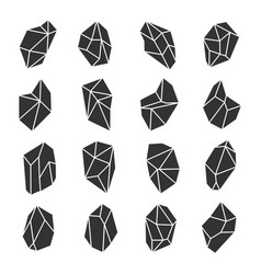 geometric crystals set vector image vector image