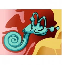 inner ear vector image vector image