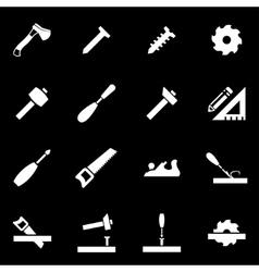 white carpentry icon set vector image vector image