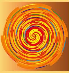 color spiral on a beige background abstraction vector image vector image
