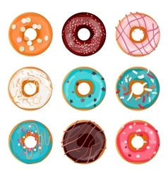 Donut Donut isolated on a light vector image