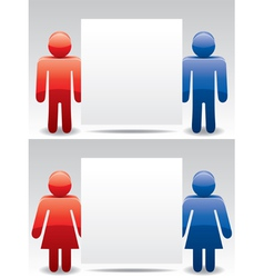 man and woman symbols vector image