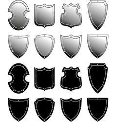 metal heraldic shield set vector image