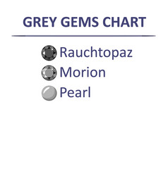 Gems grey color chart vector