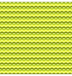 Green and yellow waves seamless pattern vector image vector image