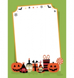 Halloween party sign vector image vector image