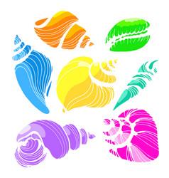 seashells color 2 vector image